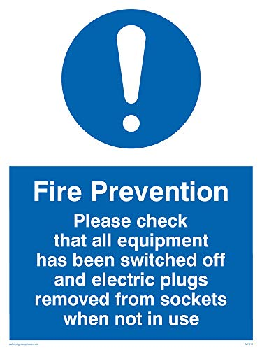 Viking Signs MF312-A5P-1M Fire Prevention Measures Sign, Plastic, 1 mm Semi-Rigid, 200 mm H x 150 mm W from Viking Signs