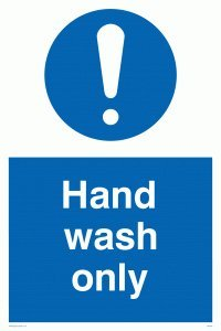 "Viking Signs MH205-A2P-3M""Hand Wash Only"" Sign, 3 mm Rigid Plastic, 600 mm H x 400 mm W from Viking Signs"