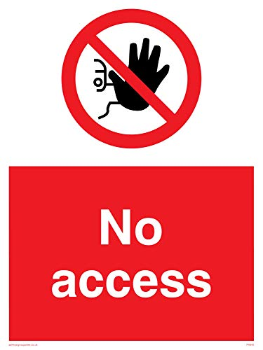 "Viking Signs PA645-A3P-V""No Access"" Sign, Vinyl, 400 mm H x 300 mm W from Viking Signs"