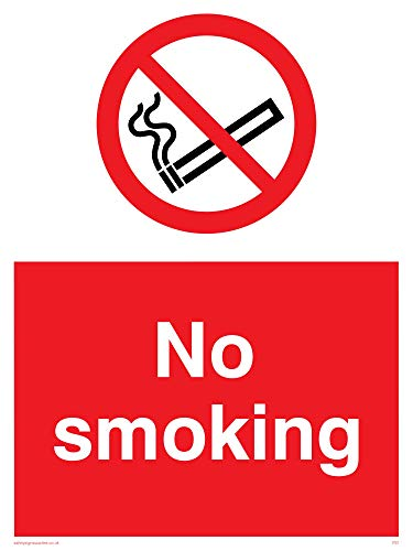 "Viking Signs PS1-A1P-3M""No Smoking"" Sign, Plastic, 3 mm Rigid, 800 mm H x 600 mm W from Viking Signs"
