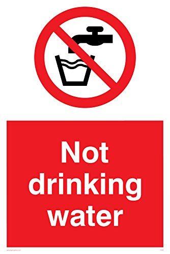 "Viking Signs PV48-A4P-V ""Not Drinking Water"" Sign, Vinyl, 300 mm H x 200 mm W from Viking Signs"