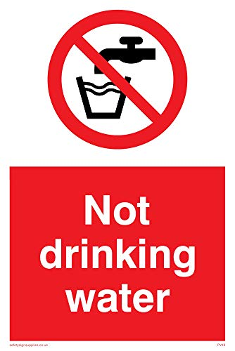 "Viking Signs PV48-A6P-1M ""Not Drinking Water"" Sign, Plastic, 1 mm Semi-Rigid, 150 mm H x 100 mm W from Viking Signs"