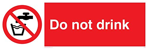"Viking Signs PV56-L62-V""Do Not Drink"" Sign, Vinyl, 200 mm H x 600 mm W from Viking Signs"