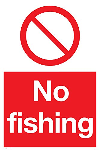 "Viking Signs PV5693-A4P-3M""No Fishing"" Sign, 3 mm Rigid Plastic, 300 mm H x 200 mm W from Viking Signs"