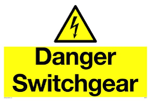 "Viking Signs WE5371-A1L-3D""Danger Switchgear"" Sign, 3 mm Double Sided Rigid PVC, 600 mm H x 800 mm W from Viking Signs"