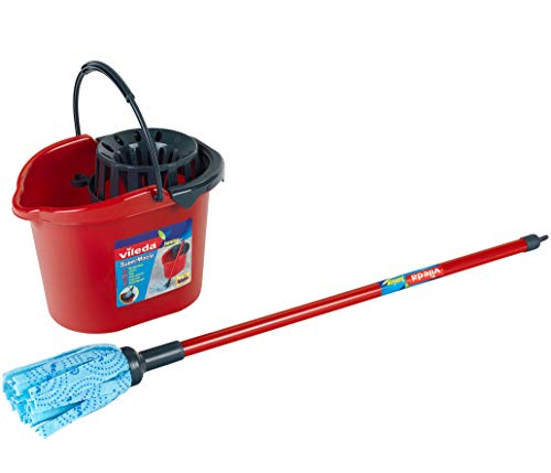 Theo Klein 6722 Replica Vileda Bucket and Wipe Mop, Toy, Multi-Colored, 4-6 Years from Theo Klein