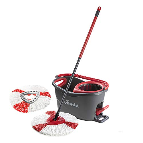 Vileda Turbo Microfibre Mop and Bucket Set with Extra 2-in-1 Refill from Vileda