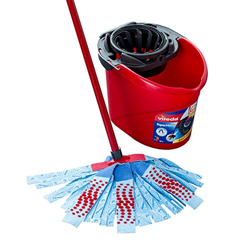Vileda SuperMocio 3Action XL Mop and Bucket Set, Red/Blue from Vileda
