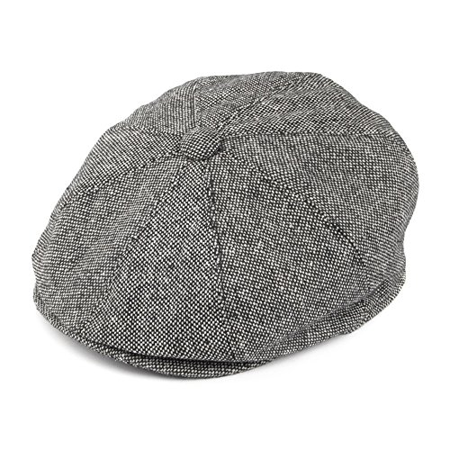 cd2390cfae21 Jaxon & James Marl Tweed Newsboy Cap - Black Medium from Jaxon & James