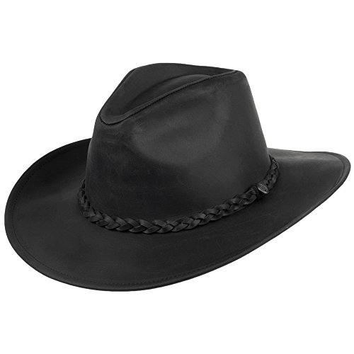 3bc9f0a29a4d Jaxon & James Buffalo Leather Cowboy Hat - Black Medium from Jaxon & James