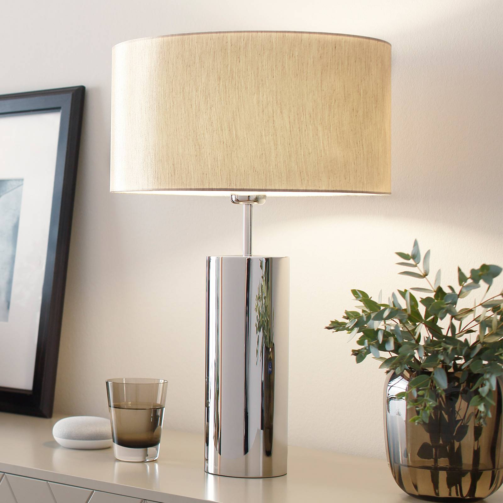 Puristic table lamp Prague, round from Villeroy & Boch