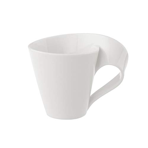 Villeroy & Boch 1025251300 New Wave Coffee Cup, 200 ml, Premium Porcelain, White from Villeroy & Boch