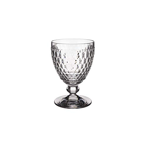 Villeroy & Boch Boston Tumbler, High-Quality Crystal Glass with Expressive Facet Pattern, Clear, Dishwasher Safe, 400 ml from Villeroy & Boch