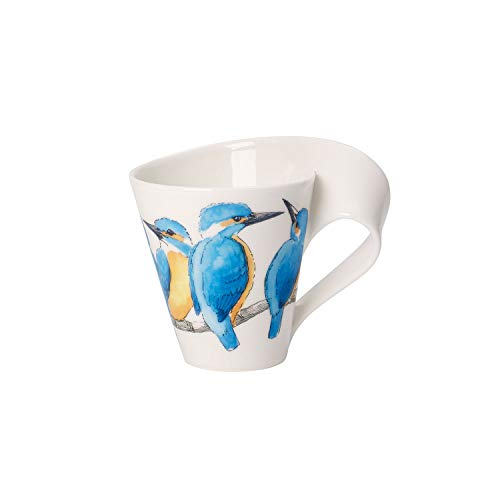 Villeroy & Boch New Wave Coffee Mug King Fisher, 300 ml, Height: 11 cm, Premium Porcelain, Blue/Multicolour from Villeroy & Boch