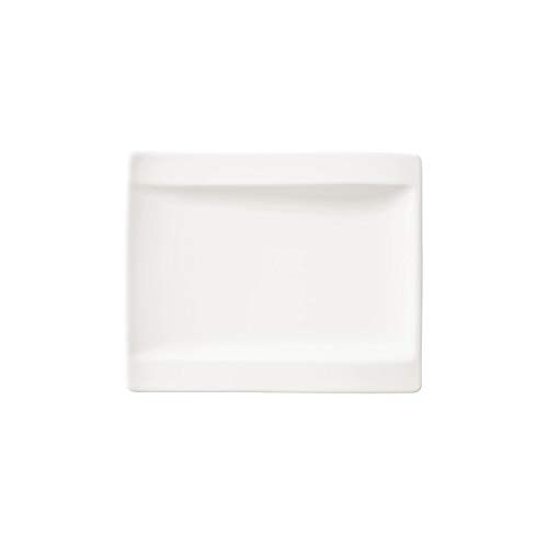 Villeroy & Boch 1025252660 New Wave Bread and Butter Plate, 18 x 15 cm, Premium Porcelain, White from Villeroy & Boch