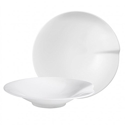 Villeroy & Boch Passion Pasta Plate L Set 2 Pieces, Porcelain, White, Large from Villeroy & Boch