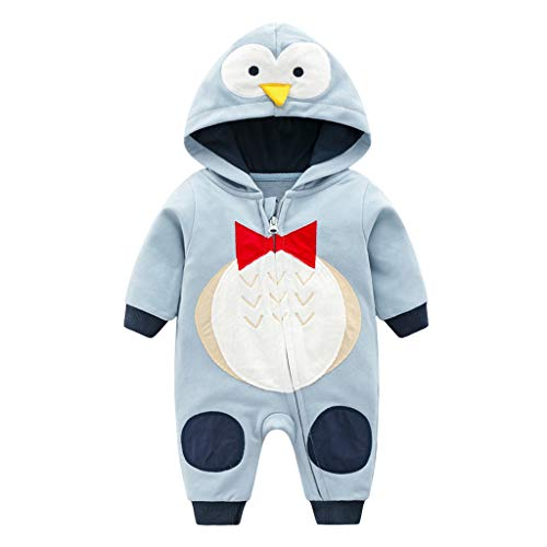 Baby Romper Hoodie Jumpsuit Cotton Pajamas Long Sleeve Bodysuit Cartoon Playsuit 3-6 Months from Vine