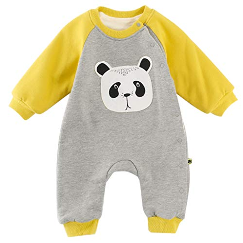 Baby Romper Winter Jumpsuit Pajamas Velvet Bodysuit Cartoon Sleepsuit from Vine