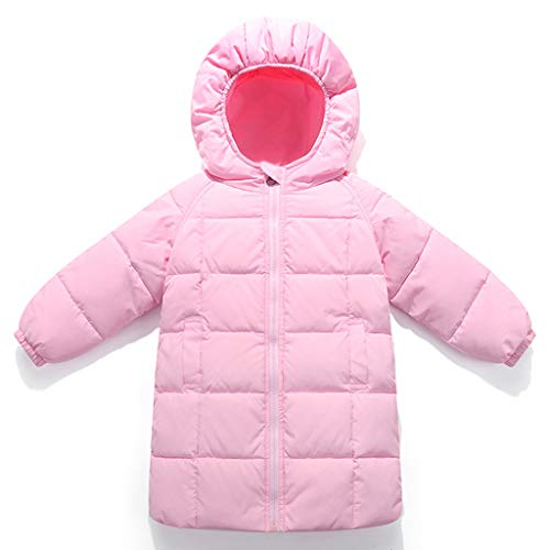 Kids Down Jacket Boys Girls Winter Hoodie Puffer Coat Thicken Long Padded Jacket Snowsuit from Vine