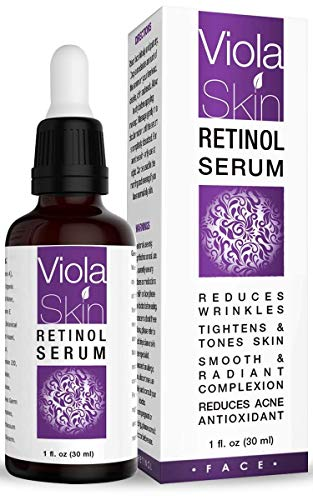 PREMIUM Retinol Face Serum with Hyaluronic Acid & Vitamin E, Anti Aging Retinol Serum for Wrinkles, Fine Lines & Sensitive Skin, Hydrate & Brighten your look! 100% Satisfaction from ViolaSkin