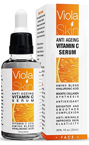 PREMIUM Vitamin C Serum For Face with Hyaluronic Acid Serum - Anti Ageing & Anti Wrinkle Serum - Our Customer Call It A Face Lift without the needles! This Vitamin C Serum Will Plump, Hydrate & Brighten Skin While Filling In Those Fine Lines & Wrinkles. Thin Consistency For Easy Absorption. from Viola Skin