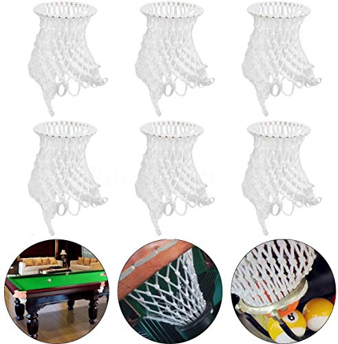 6Pcs Billiards Table Nets Pool Mesh Pocket Bag Replacement Set for Snooker White Cotton from Viper