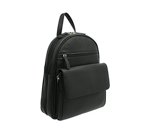 New ladies/girls Visconti black soft leather backpack organiser bag 01433 from Visconti