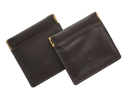 Pack of 2 Visconti Leather Snap Top Purses CP7 Chocolate from Visconti