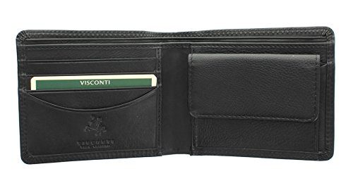Visconti Heritage Collection Bi-Fold STAMFORD Leather Wallet HT7 Black from Visconti