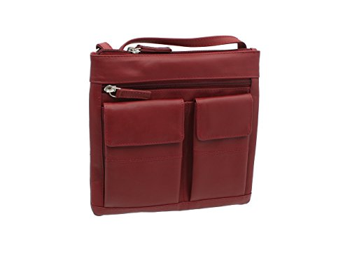 Visconti Leather Handbag Style 18608A - Red from Visconti