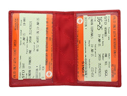 Visconti Leather Oyster Card / Travel Pass Holder TC1TC Red from Visconti