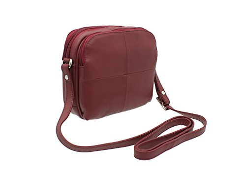 Visconti Leather Small Shoulder Bag Style 18939 Red from Visconti