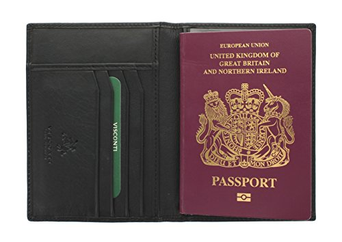 Visconti POLO Collection Leather Passport Holder 2201 Black from Visconti