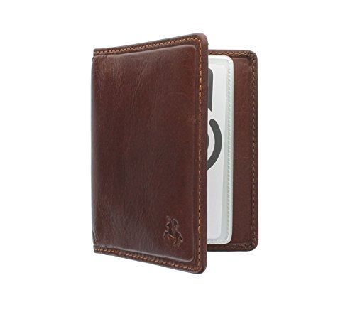Visconti Tuscany Collection CAMPER Leather Card Holder - RFID Protection TSC40 Tan from Visconti