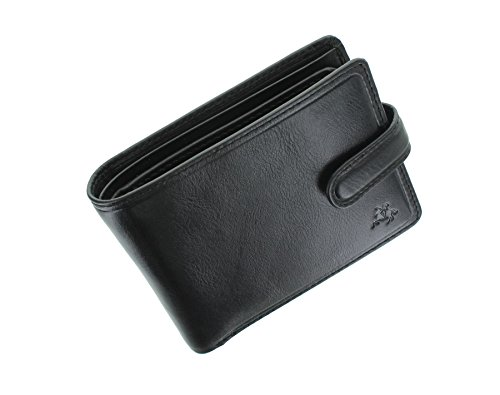 Visconti Tuscany Collection RICCARDO Leather Wallet With RFID Protection TSC47 Black from Visconti