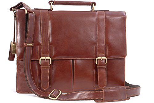 Visconti Vintage Leather Briefcase & Strap - VT6 - Bennett from Visconti