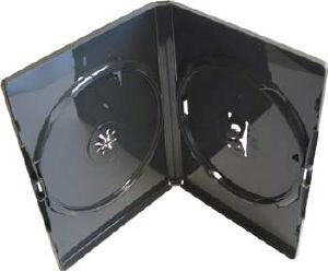 Vision Media 100 X Double Black Amaray DVD/CD/BLU RAY Case from VISION MEDIA