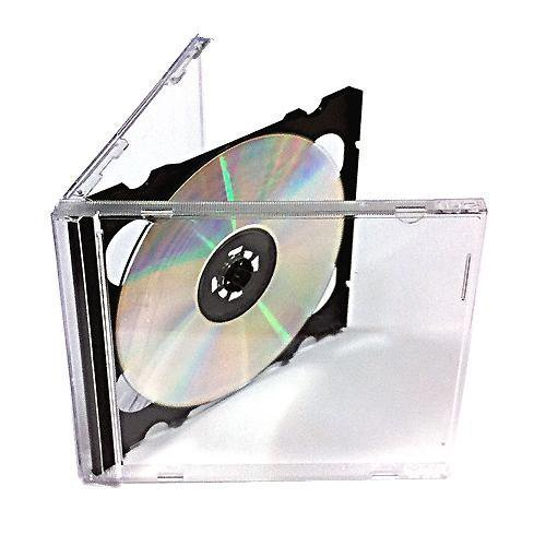 Vision Media 50 X Double CD Jewel Case Black Tray - 10.4mm Spine from VISION MEDIA