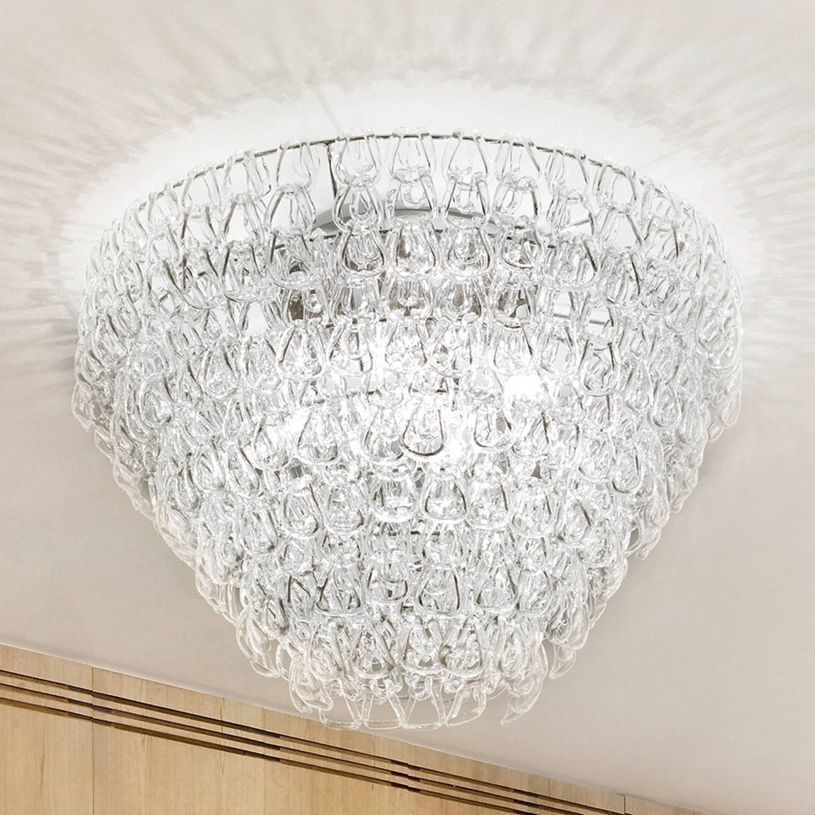 Luxurious ceiling light MINIGIOGALI from Vistosi