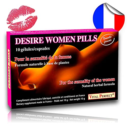 Desire Women pills 10 capsules - aphrodisiac for desire, libido and sexual pleasure of woman from Vital Perfect