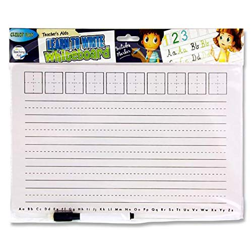 Premier Stationery W2118847 Clever Kids Teacher's Aid Learn to Write Whiteboard with Marker from Premier Stationery