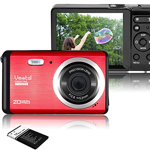 Vmotal GDC80X2 Mini Compact Digital Camera 12 MP HD 3.0 Inch TFT LCD Screen for Children / Beginners / Elderly (Red & Black) from Vmotal