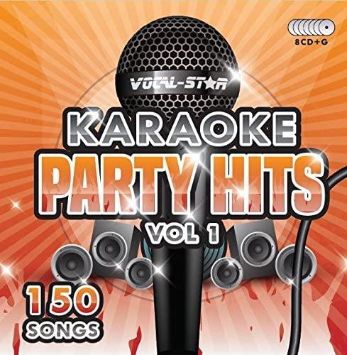 Karaoke Party Hits CDG CD+G Disc Set - 150 Songs on 8 Discs Including The Best Ever Karaoke Tracks Of All Time (Adele, Ed Sheeran, Coldplay, Abba, Beatles, Frank Sinatra, One Direction and much more) from Vocal-Star