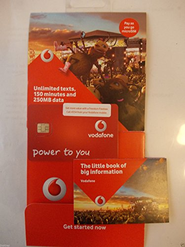 Vodafone 3G Ultimate BIG Value Bundles Calls Triple Sim Card - Pay As You Go - Includes Nano/Micro/Standard - UNLIMITED CALLS, TEXTS & DATA For IPHONE 4/4S/5/5C/5S/6/6S/6+ / Ipad 2/3/4/5/Air/Air2/Air5 / GALAXY S2/S3/S4/S5/S6/S6-Edge / GALAXY TAB / NOTES 2/3/4/5- SEALED - AVAILABLE ONLY FROM > MOBILES DIRECTS COMMUNICATIONS LTD from Vodafone