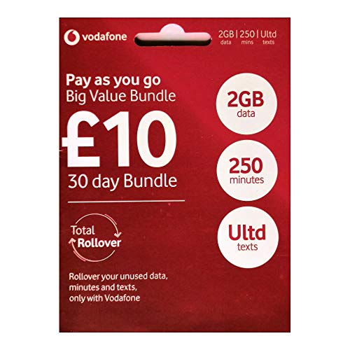 Vodafone Pay As You Go - Includes Standard, Micro & Nano Triple SIM Card For IPHONE 4, 4S, 5, 5C, 5S, 6, 6S, 6+ / Ipad Air / Air2 / GALAXY S2 /S3 /S4 /S5 /S6 / S6-EDGE / GALAXY TAB / NOTES - SEALED - Unlimited Calls, Texts and Data - ONLY FROM > MOBILES DIRECTS COMMUNICATIONS LTD from Vodafone