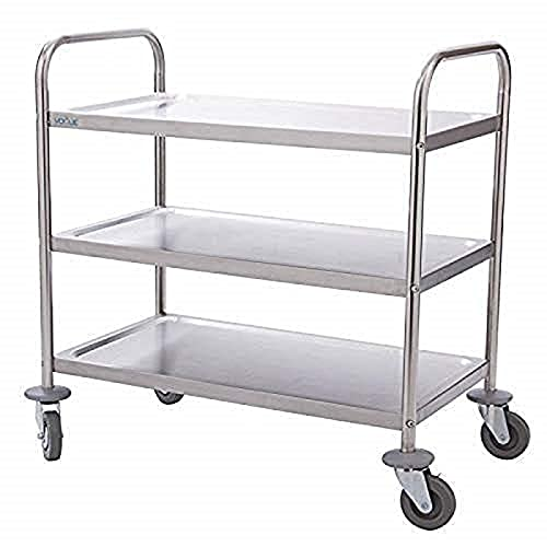 Vogue 3 Tier Clearing Trolley Small 825X710X405mm Stainless Steel Catering from Vogue