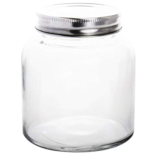 Vogue CP082 Glass Jar with Stainless Steel Lid, 84 diameter x 100 mm H, 330 mL, 12 oz. from Vogue