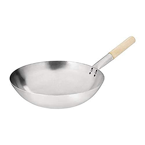 Vogue Mild Steel Wok Round Base 14In Frying Food Commercial Cooking from Vogue