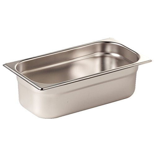 Vogue K936 Stainless Steel 1/3 Gastronorm Pan, 7.5 L Capacity, 200 mm Depth from Vogue