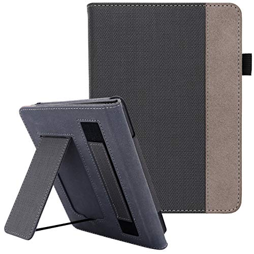 WALNEW Cover Fits Kindle Paperwhite(10th Generation, 2018 Release) - Auto Sleep/Wake Smart Stand Case with Hand Strap for Kindle Paperwhite 10th Gen from WALNEW